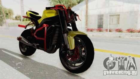Kawasaki Ninja ZX-10R Nakedbike Stunter для GTA San Andreas вид сзади слева