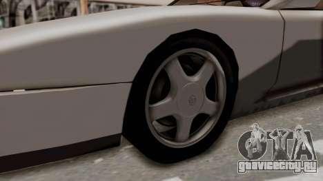 Jester Supra для GTA San Andreas вид сзади