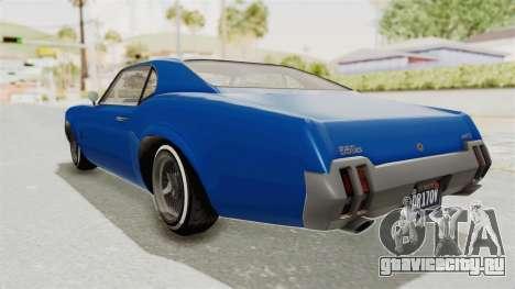 GTA 5 Declasse Sabre GT2 A для GTA San Andreas вид слева