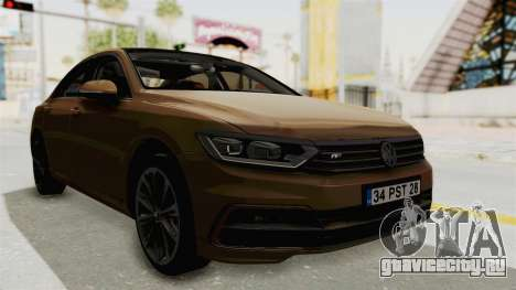 Volkswagen Passat B8 2016 RLine IVF для GTA San Andreas вид справа