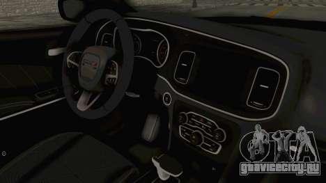 Dodge Charger RT 2015 для GTA San Andreas вид изнутри