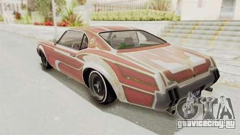 GTA 5 Declasse Sabre GT2 B для GTA San Andreas салон