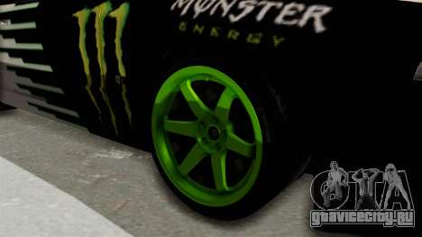 Nissan Skyline R32 Drift Monster Energy Falken для GTA San Andreas вид сзади