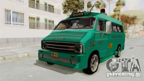 Dodge Ram Van Microbus 1977 для GTA San Andreas вид справа