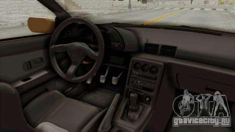 Nissan Skyline R32 4 Door Taxi для GTA San Andreas вид изнутри