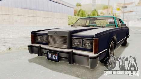 GTA 5 Dundreary Virgo Classic Custom v2 IVF для GTA San Andreas вид справа