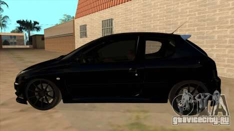 Peugeot 206 MO Edit для GTA San Andreas вид слева