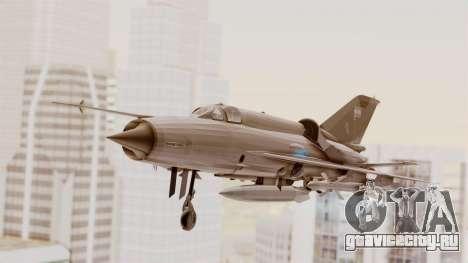 MIG-21 BIS Fuerza Aérea Argentina для GTA San Andreas