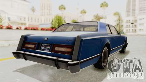 GTA 5 Dundreary Virgo Classic Custom v1 IVF для GTA San Andreas вид сзади слева
