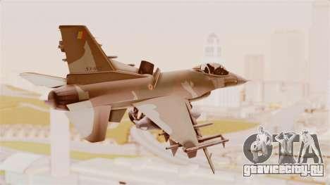 F-16A General Dynamics Chadian Air Force для GTA San Andreas вид слева