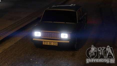 Вооруженные Проповедовать Авто 2107 для GTA 5 вид сзади справа