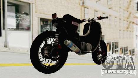 Honda Super Cub Modif Moge для GTA San Andreas вид слева