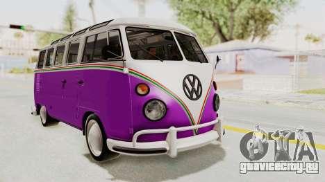 Volkswagen T1 Station Wagon De Luxe Type2 1963 для GTA San Andreas вид справа