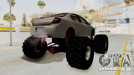 Dodge Neon Monster Truck для GTA San Andreas вид справа