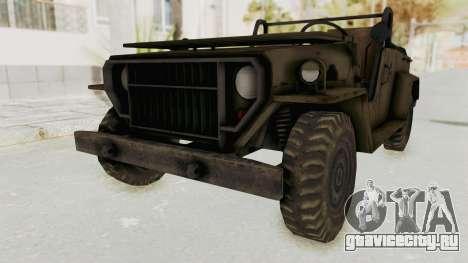 MGSV Jeep No LMG для GTA San Andreas вид справа
