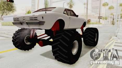 Pontiac Firebird 400 1968 Monster Truck для GTA San Andreas вид сзади слева