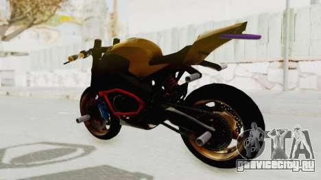 Honda CBR1000RR Naked Bike Stunt для GTA San Andreas вид сзади слева