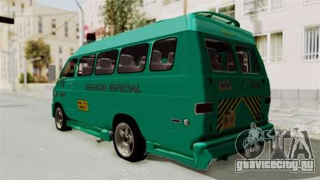 Dodge Ram Van Microbus 1977 для GTA San Andreas вид сзади слева