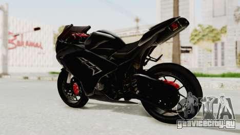 Kawasaki Ninja 300 FI Modification для GTA San Andreas вид сзади слева