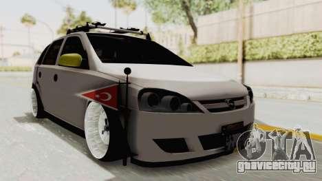 Opel Corsa для GTA San Andreas вид справа