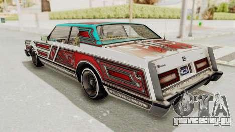 GTA 5 Dundreary Virgo Classic Custom v2 IVF для GTA San Andreas вид сверху