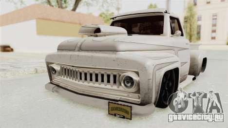 GTA 5 Slamvan Lowrider PJ1 для GTA San Andreas вид сзади