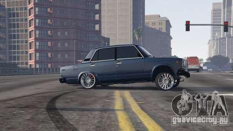 Вооруженные Проповедовать Авто 2107 для GTA 5 вид слева