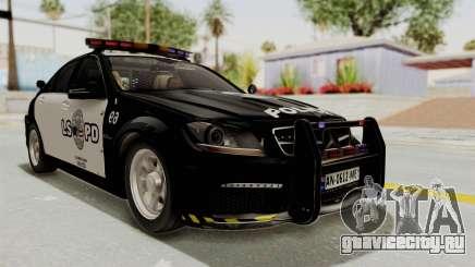 Mercedes-Benz C63 AMG 2010 Police v2 для GTA San Andreas