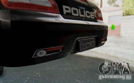 ASYM Desanne XT Pursuit v2 для GTA San Andreas вид снизу