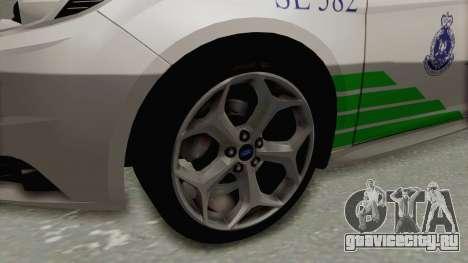 Ford Focus ST 2013 PDRM для GTA San Andreas вид сзади