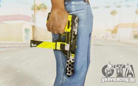 Tec-9 Neural Yellow для GTA San Andreas третий скриншот