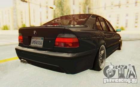 BMW M5 E39 M-Tech USDM для GTA San Andreas вид сзади слева