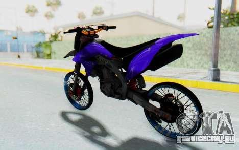 Kawasaki KLX150S Thailock Style для GTA San Andreas вид справа