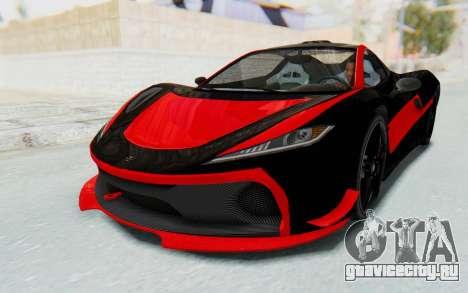 GTA 5 Progen T20 Devil PJ для GTA San Andreas вид сбоку