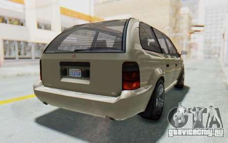 GTA 5 Vapid Minivan IVF для GTA San Andreas вид справа
