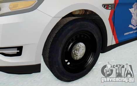 Ford Taurus Indonesian Traffic Police для GTA San Andreas вид сзади
