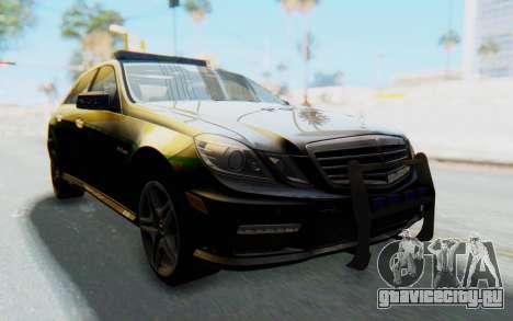 Mercedes-Benz E63 German Police Green для GTA San Andreas вид справа