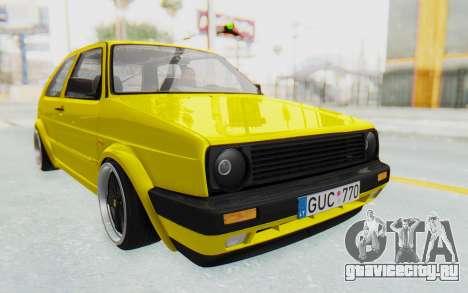 Volkswagen Golf Mk2 Lemon для GTA San Andreas вид справа