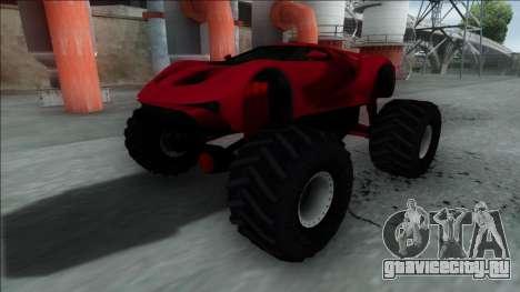 GTA V Vapid FMJ Monster Truck для GTA San Andreas вид сзади слева