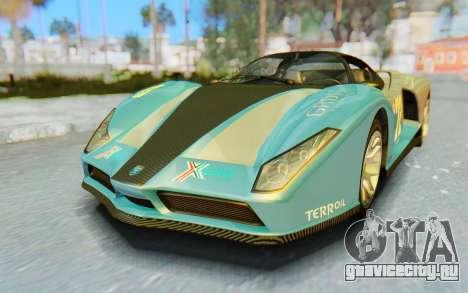 GTA 5 Grotti Cheetah SA Lights для GTA San Andreas салон