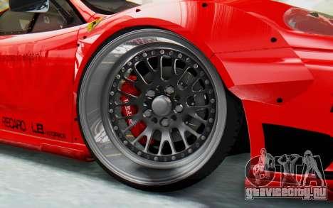 Ferrari 360 Modena Liberty Walk LB Perfomance v2 для GTA San Andreas вид сзади слева