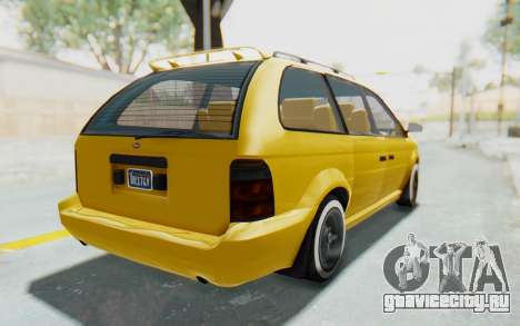 GTA 5 Vapid Minivan Custom IVF для GTA San Andreas вид сзади слева