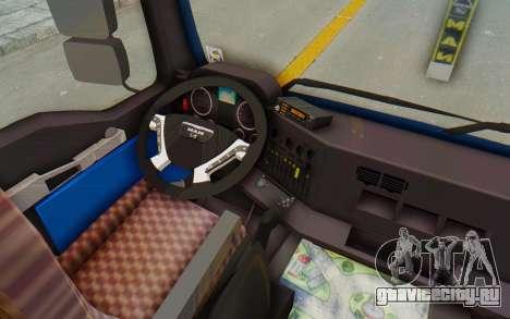 MAN TGA Energrom Edition v1 для GTA San Andreas вид изнутри