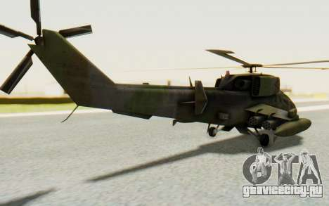 WZ-19 Attack Helicopter для GTA San Andreas вид слева