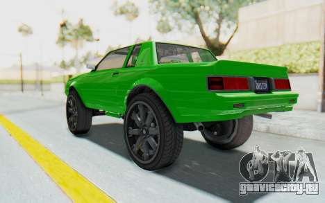 GTA 5 Willard Faction Custom Donk v3 для GTA San Andreas вид слева