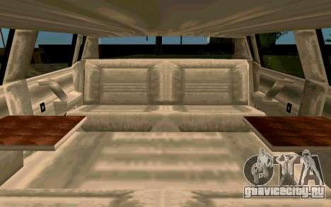 Tahoma Limousine v2.0 (HD) для GTA San Andreas вид изнутри
