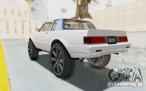GTA 5 Willard Faction Custom Donk v2 для GTA San Andreas вид слева