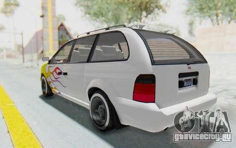 GTA 5 Vapid Minivan Custom without Hydro для GTA San Andreas колёса