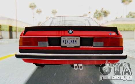 BMW M635 CSi (E24) 1984 IVF PJ2 для GTA San Andreas вид сверху