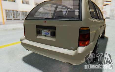 GTA 5 Vapid Minivan IVF для GTA San Andreas вид снизу